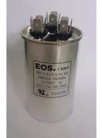 Capacitor Duplo 30+1.5uf Ar Condicionado Split Lg 12000 Btus