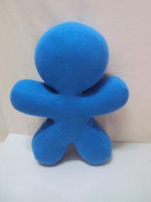 Pelucia Mascote Vivo Azul Tamanho 29cm