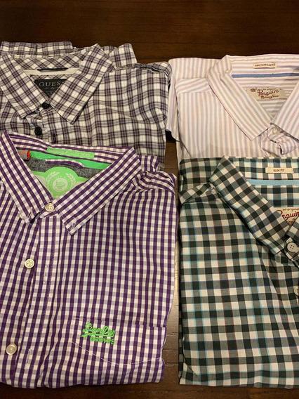 Camisa Hombre Xl, Penguin, Super Dry Guess