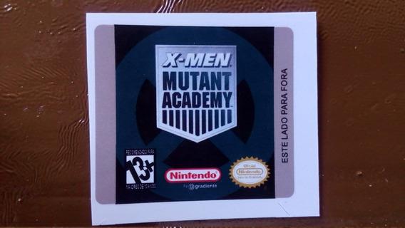 Label X-men Mutant Academy Para Game Boy