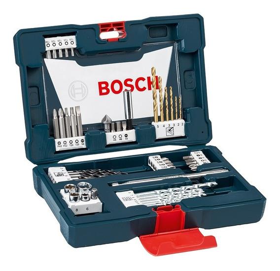 Set V-line Bosch Titanio 48 Accesorios Perforar Atornillar