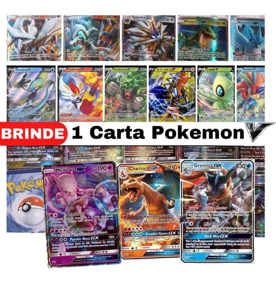 Lote 15 Cartas Pokemon: 14 Gx + 1 Mega Ex