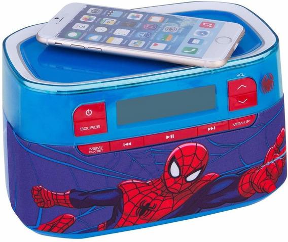 Radio Reloj Wireless Bluetooth Cargador Ultimate Spiderman