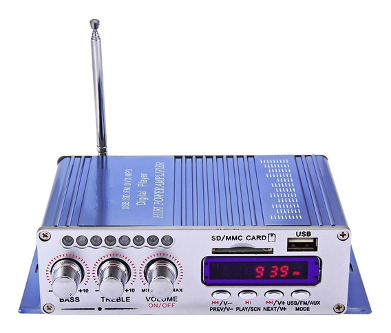 Mini Modulo Amplificador Fm Mp3 Usb Sd Cd Mmc Bluetooth