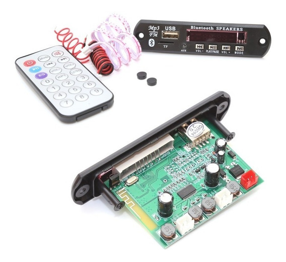 Placa Amplificada Decodificada Mp3 15w + 15w Usb Bluetooth