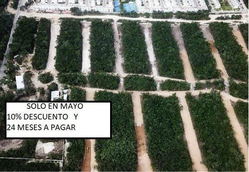 Lotes Residenciales Con Diez Por Ciento Descuento Y 24 Meses En Playa Del Carmen (478)