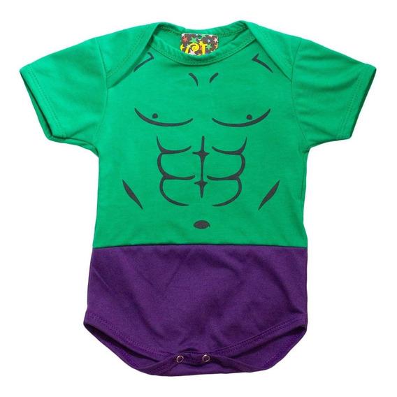 Body Fantasia Super Heróis Hulk Para Bebês