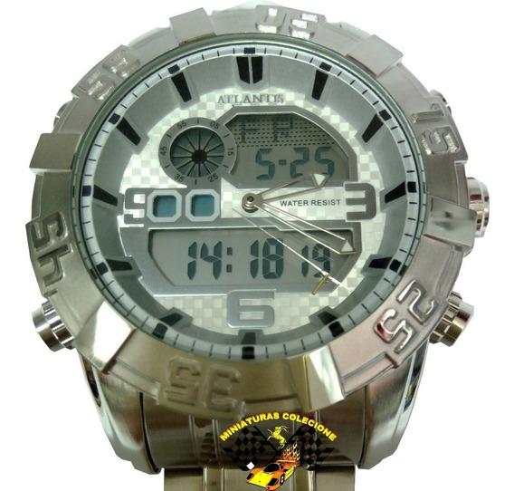 Relógio Original Atlantis Analogo Digital A3361 Aço Prata