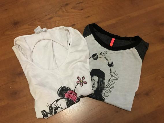 Kit 2 Camisetas Femininas Tamanho M