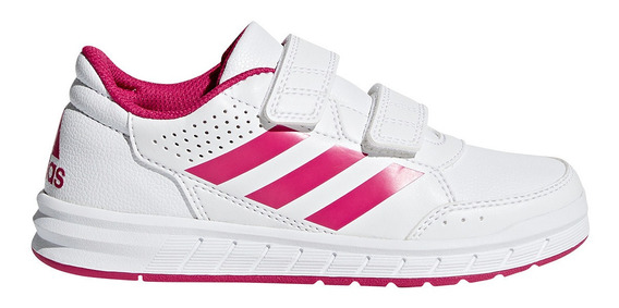 Tênis Infantil adidas Altasport Cf K Velcro - Branco E Pink