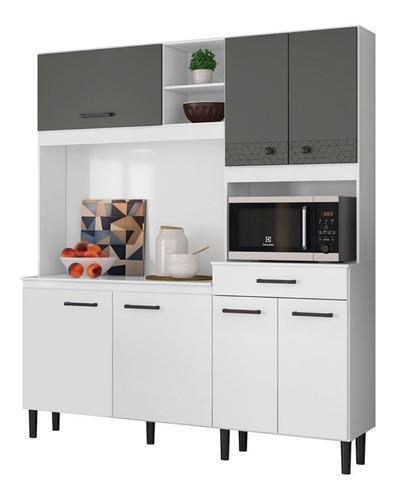 Mueble De Cocina Kit Completo 7 Puertas 1 Cajon Amoblamiento