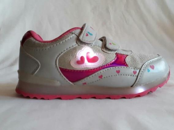 Zapatos De Niña Paul Frank Con Luces. Usados 1 Sola Vez.