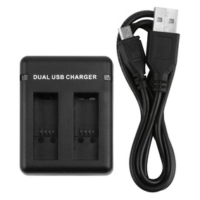 Carregador Duplo Dual Usb Charger Gopro Hero 5 6 Black