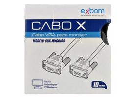 Cabo Vga 10m Pra Monitor Lcd Pc Tv E Projetor 10 Metros