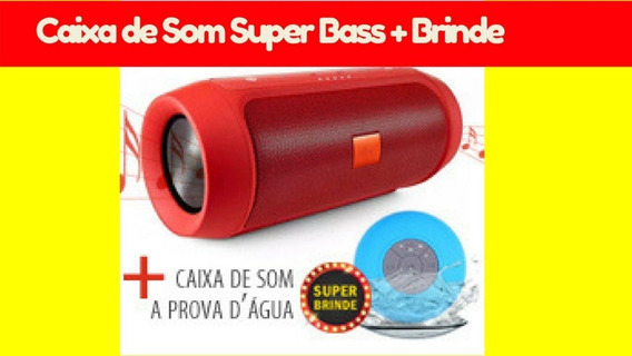 Caixa De Som Super Bass+ Brinde