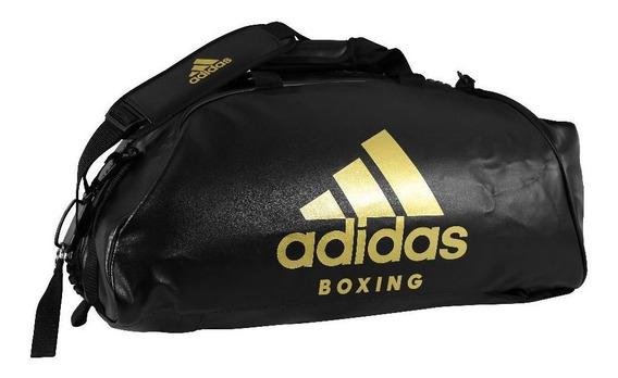 Bolsa Mochila Boxing Preto Com Dourado adidas 2in1