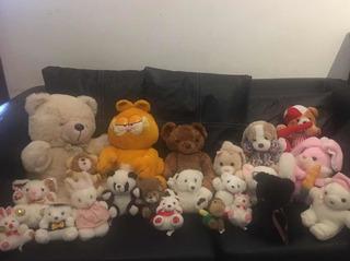 Lote De 22 Peluches, Garfield, Ositos, Conejos Excel. Estado