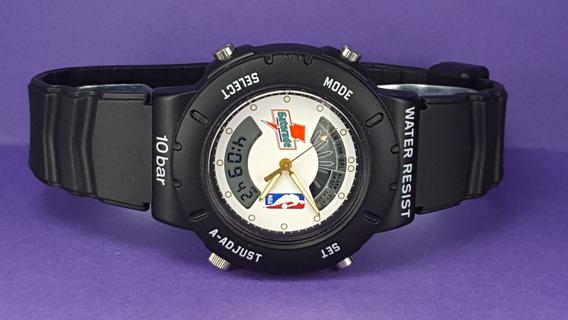 Cronometro Bulova (1994) Hora Digital E Visor Gatorade/nba.