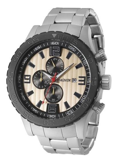 Relógio Masculino Magnum Analógico Ma33602e - Prata