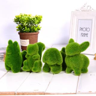 Figura Animalito Pasto Artificial Jardin Decoracion Mascota