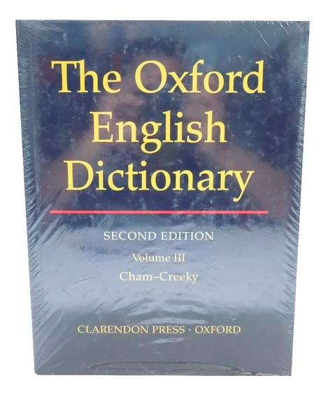 Livro The Oxford English Dictionary 2nd Vol. 3 Em Inglês