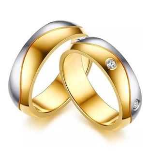 Par Argollas De Matrimonio Boda En Plata Y Baño De Oro A54