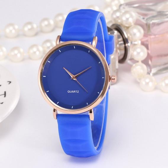 Macio Silicone Relógio De Pulso Mulheres Relógios Redondo