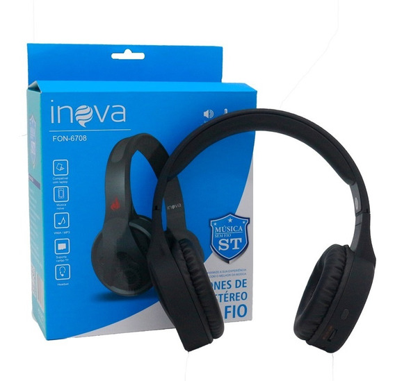 Headphone On Ear Bluetooth Fone De Ouvido Celular Pc Tv Game