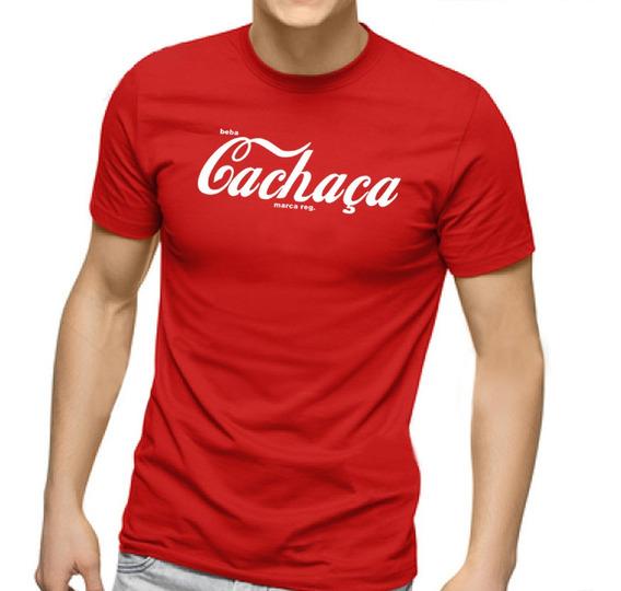 Camiseta Masculina Beba Cachaça 100% Algodão