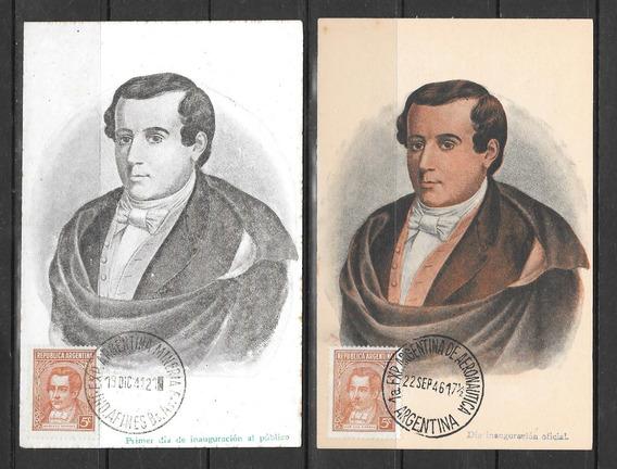 Argentina Decada 30 Dos Postales Filatelicas Mariano Moreno