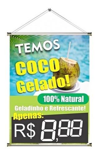 Banner Pronto Temos Água De Coco