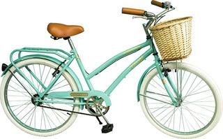 Bicicleta De Dama R26 Vintage Paseo Mujer C/porta Paquete