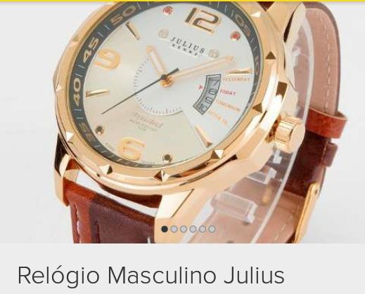 Julius Relógios . Promoção So Hoje De 260 $ Por 200 $