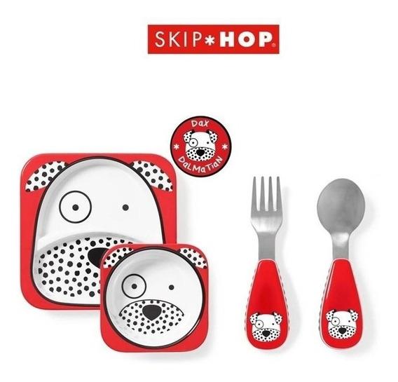 Pratos E Talheres Skip Hop Kit Alimentação Zoo Dálmata