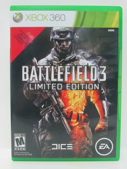 Battlefield 3 Limited Edition - Xbox 360 Original Americano