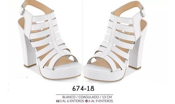 Zapatillas Blancas / Plataforma Dama Cklass 674-18