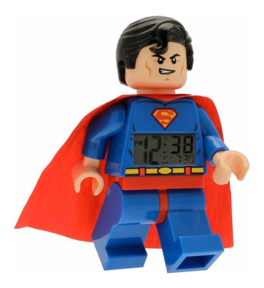 Lego Reloj Despertador Superman Digital Original Iluminacion