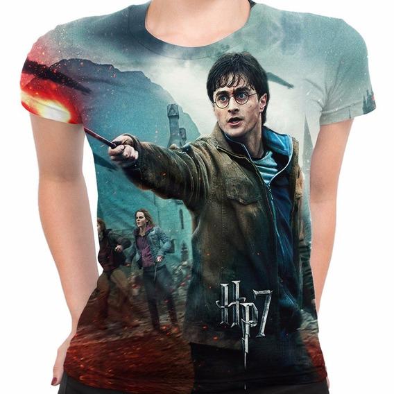 Camiseta Baby Look Filme Trilogia Harry Potter Md02