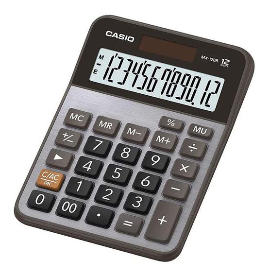 Calculadora Mesa Casio Mx - 120b 12 Dígitos Prata