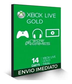 Xbox Live Gold Br Usa Cartão 14 Dias - Codigo 25 Digitos !