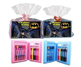 Kit Maleta Estojo De Pintura Personalizada Batman 50un