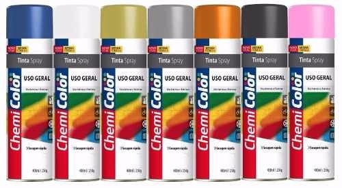 Spray Chemicolor Uso Geral 400 Ml Cores