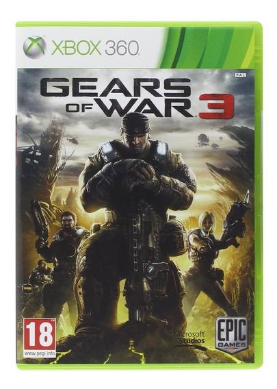 Gears Of War 3 - Xbox 360 / One Original Código 25 Dig Port