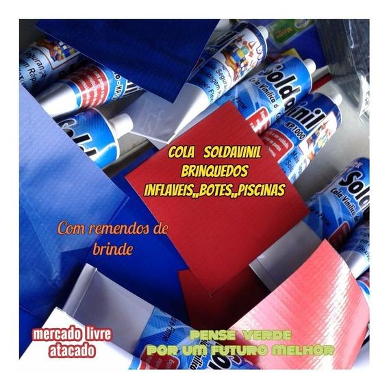 Kit Reparo Para Brinquedos Infláveis C/2 Colas+lona+brinde