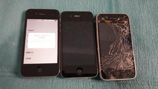 Sucata 3 Iphones : iPhone 4 + iPhone 3 Retirada De Peças