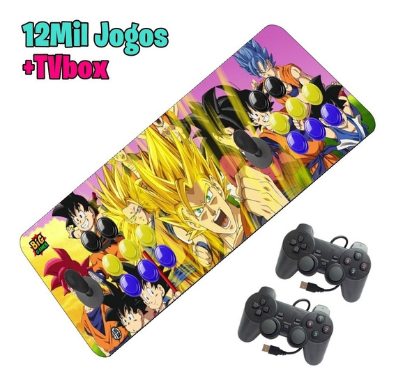 Arcade Fliperama Portátil 12000 Controle Duplo 2 Joysticks