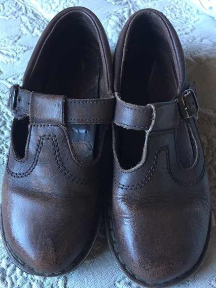Zapatos Colegial Nena 32 Marrones Marcel. Poco Uso.
