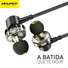 Fone De Ouvido Com Microfone Awei Z1 Dual Drive Super Bass