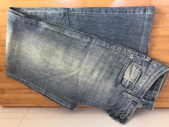 Calça Jeans Fem Levis 518 Boca De Sino Tam 28 S18 W28 L32