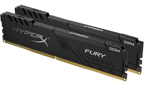 Memória Kingston Hyperx Fury 8gb(2x4)3200mhz Ddr4 Cl18 Black